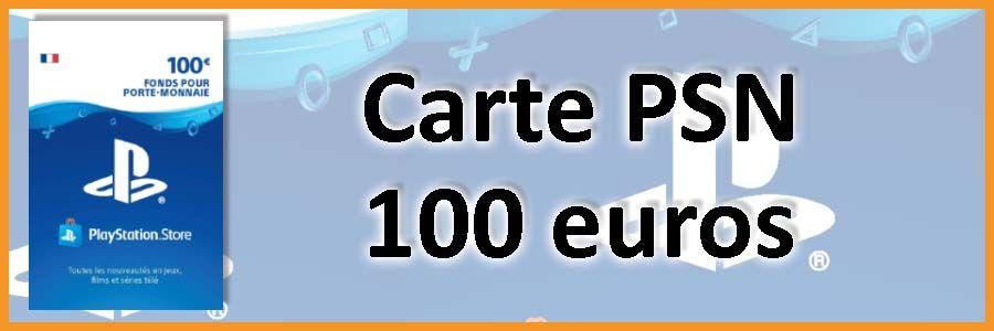 Carte PSN 100 euros