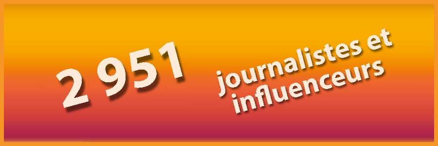 PGW 2951 journalistes et influenceurs
